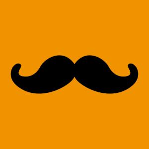 Anpassbares Moustache Designs für T-Shirt Druck