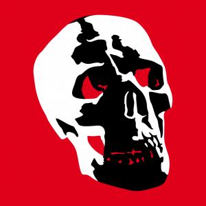 Totenkopf T-Shirt zu gestalten. Totenköpfe Designs für T-Shirt Druck.