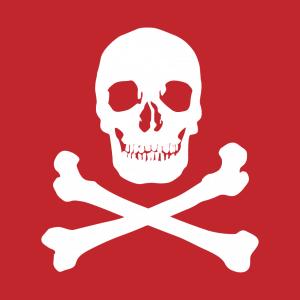 Schädel T-Shirt zu gestalten. Pirat Designs für T-Shirt Druck.