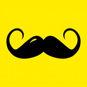 moustache T-Shirt zu gestalten. Hipster Designs für T-Shirt Druck.