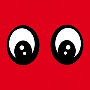 Augen und Lustiges Smiley Design für T-Shirt Druck