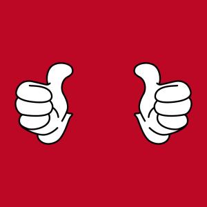 Thumbs up Design für T-Shirt Druck