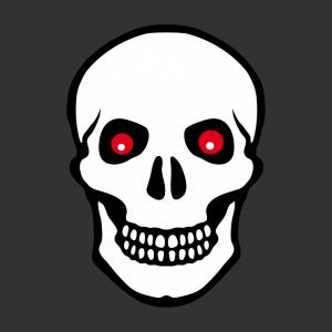 Totenkopf Design für T-Shirt Druck