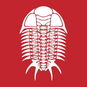 Fossil T-Shirt zu gestalten. Trilobit Designs für T-Shirt Druck.