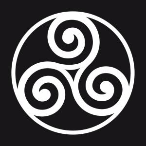 Keltische Triskele T-Shirt zu gestalten. Keltisches Symbol Designs für T-Shirt Druck.