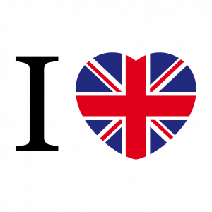 England T-Shirt zu gestalten. I Love Uk Designs für T-Shirt Druck.