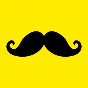 Verzierter Schnurrbart und Hipster Design