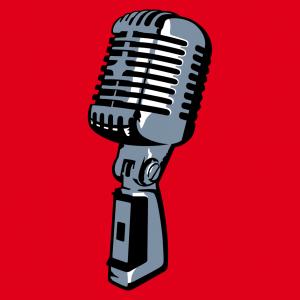 Mikrofon Design für T-Shirt Druck