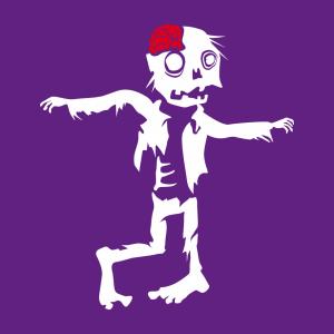 Halloween T-Shirt zu gestalten. Lustiger Zombie Designs für T-Shirt Druck.