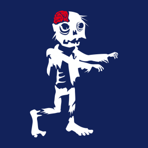Zombie T-Shirt zu gestalten. Halloween Designs für T-Shirt Druck.