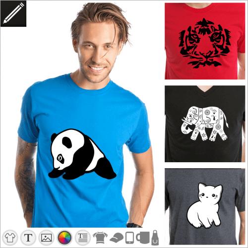 Selbst gestalte dein Tiere T-Shirt online