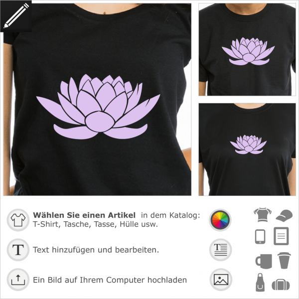 Stilisierte Lotus Blume, 1 Farbe Design. Natur und Dekorieren Motiv.