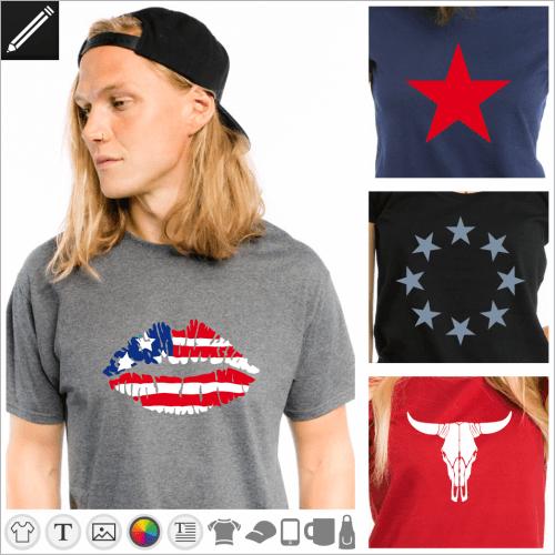 Selbst gestalte dein Vereinigte Staaten T-Shirt online