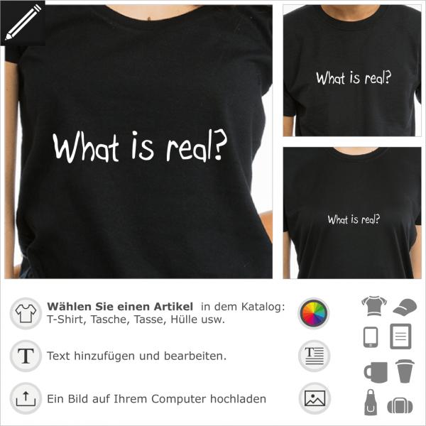 What is real handschriftliches anpassbares Design, Matrix Zitat.