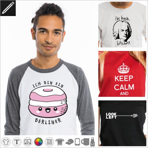 Selbst gestalte dein Witz T-Shirt