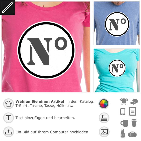 Gestaltbarer Ziffer Kreis für T-Shirt Druck. Gestalte dein Sport T-Shirt mit diesem personalisierbares Kreis und schreibe dein Ziffer oder Nummer ins.