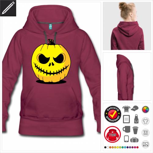 Frauen Halloween Kürbis Hoodie zu gestalten