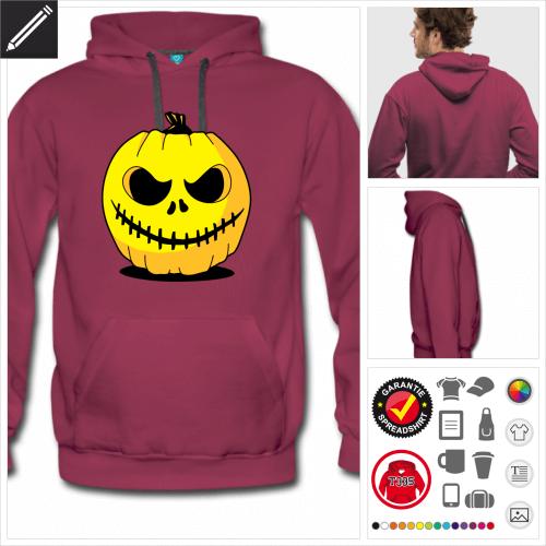 Männer Halloween Sweatshirt gestalten, Druck ab 1 Stuck