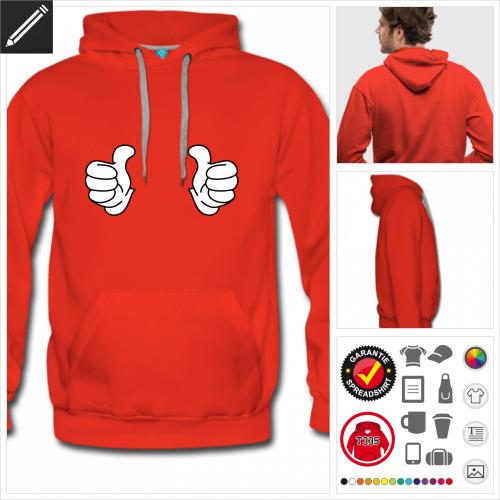 Daumen Sweatshirt personalisieren