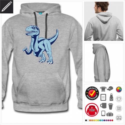 Männer Raptor Dinosaurier Sweatshirt zu gestalten