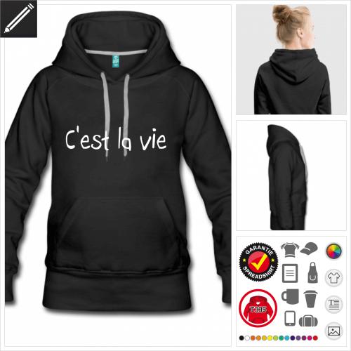 graues Sprüche Sweatshirt online Druckerei, höhe Qualität