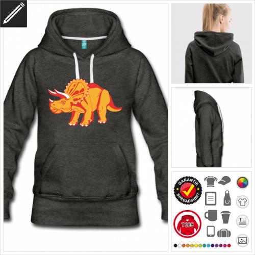 Dinosaurier Sweatshirt personalisieren