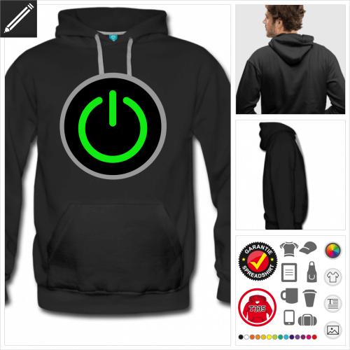 Männer Gamer Sweatshirt personalisieren