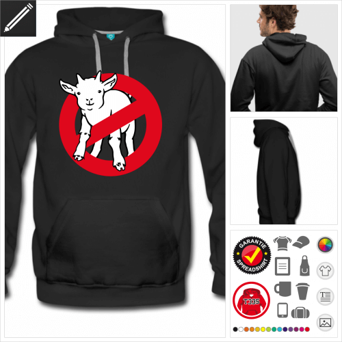 Männer Afraid of no goat Sweatshirt personalisieren