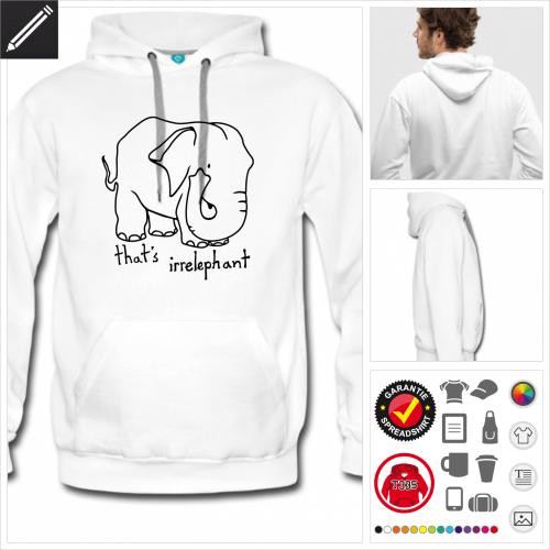 Männer Elefant Sweatshirt zu gestalten