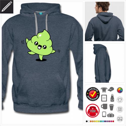 Männer Kack emoji Sweatshirt online zu gestalten