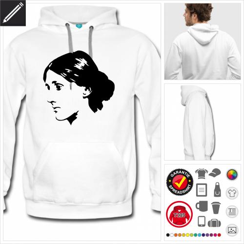 Virginia Woolf sweatshirt online gestalten