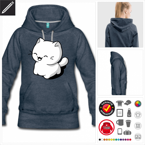 Lustige Katze Hoodie personalisieren