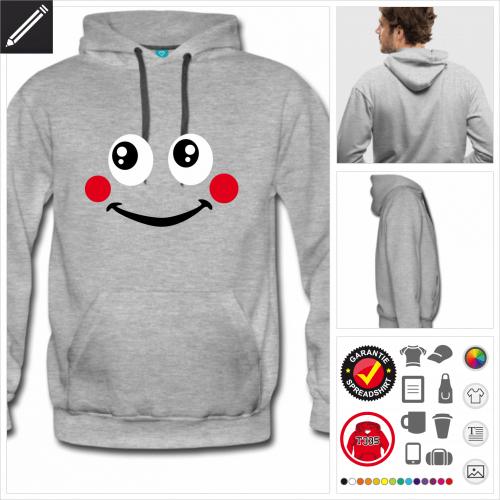 Männer Lustiges Smiley Sweatshirt personalisieren