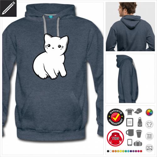 Männer Kätzchen Sweatshirt online gestalten