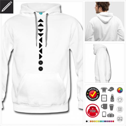 Retrogaming Sweatshirt für Männer online Druckerei, höhe Qualität