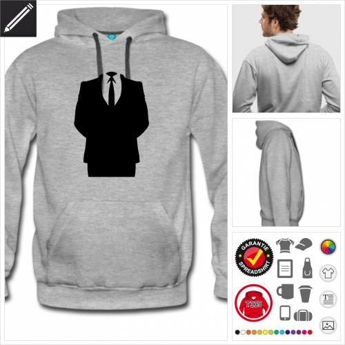 Männer Anonymous Sweatshirt personalisieren