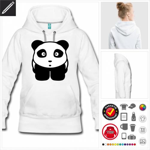 Frauen Panda Hoodie selbst gestalten