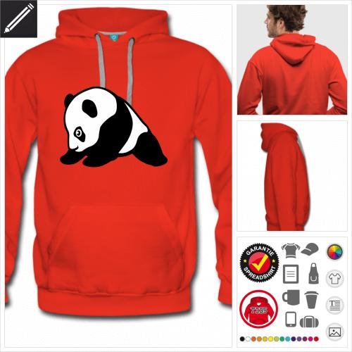 Süßer Panda sweatshirt selbst gestalten