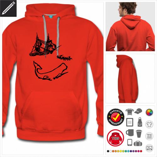 Moby Dick Sweatshirt online zu gestalten