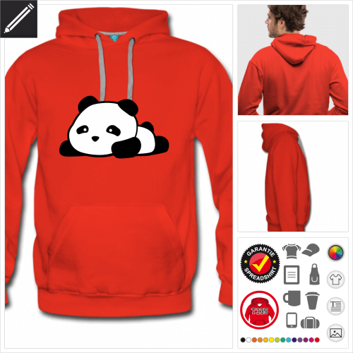 Panda Sweatshirt zu gestalten