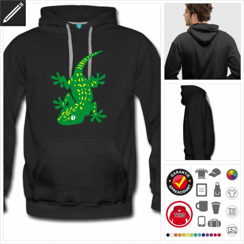 Gecko Sweatshirt für Männer personalisieren