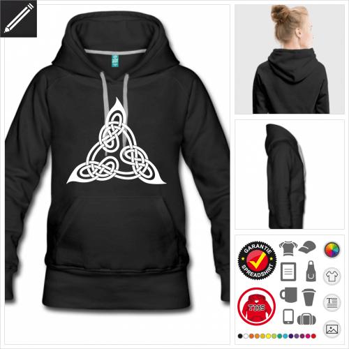 schwarzes Keltisches Hoodie zu gestalten