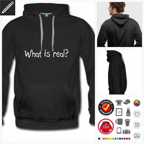 Männer Real Sweatshirt selbst gestalten. Druck ab 1 Stuck