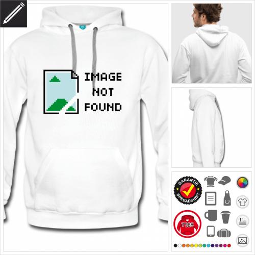 Männer Entwickler Sweatshirt selbst gestalten. Online Druckerei