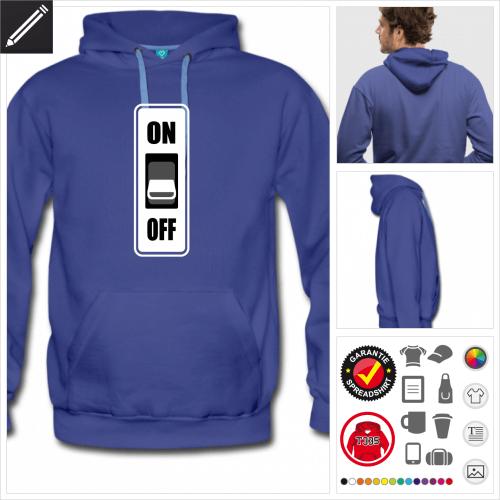 Geek Sweatshirt für Männer zu gestalten
