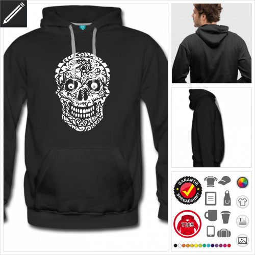 Männer Mexikanischer Totenkopf Sweatshirt online gestalten