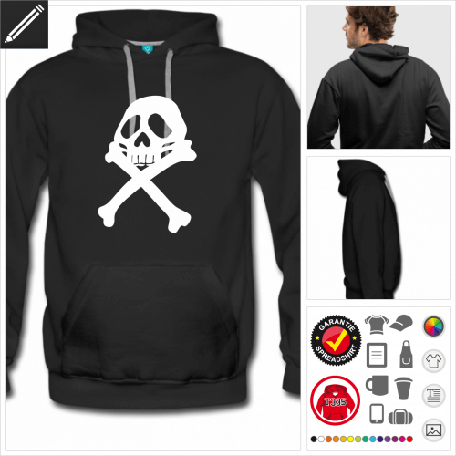 Piratenflagge Sweatshirt für Männer personalisieren