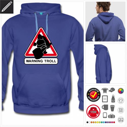 blaues Nerd Sweatshirt online gestalten