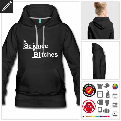 Wissenschaft Hoodie online gestalten