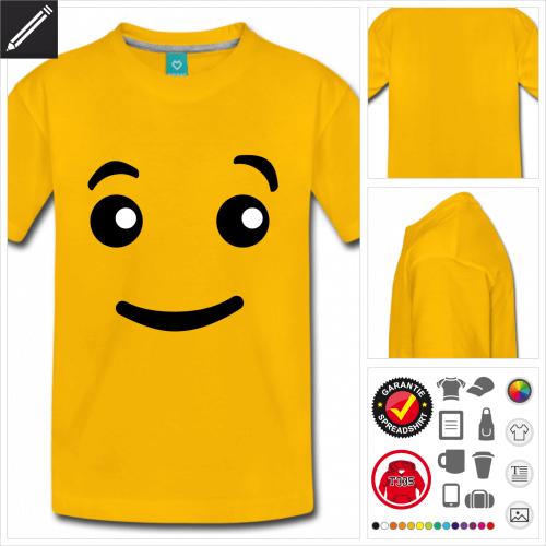 basic Emoji T-Shirt online Druckerei, höhe Qualität